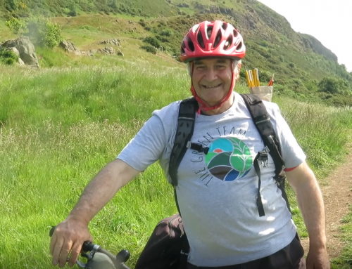 Pete Pedals on for Young Carers